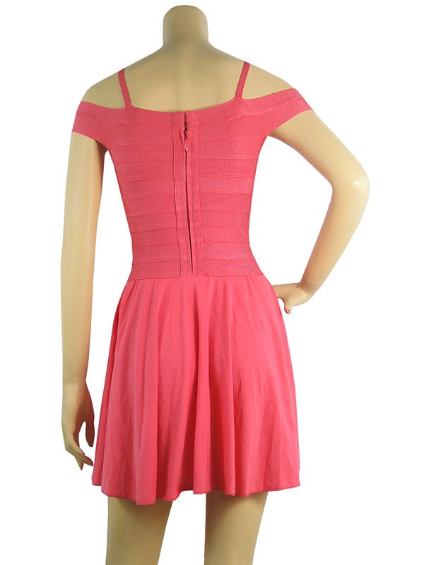 Dress Like Victoria Beckham Herve Leger Pink Bandage Dress