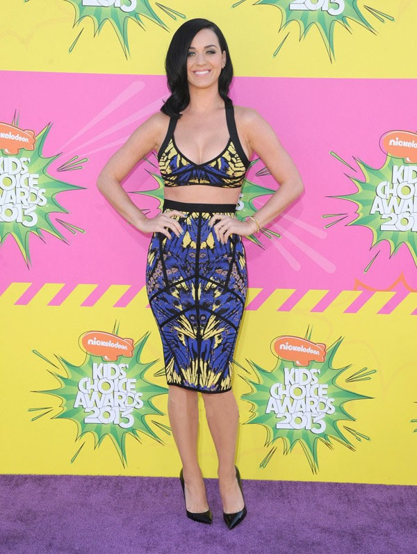 Herve Leger Katy Perry New Art Jacquard Bandage Dress