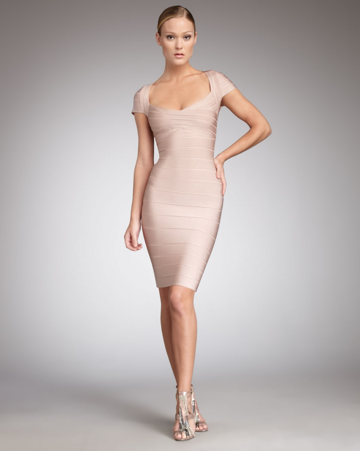 664f2938a54 Herve Leger New Fashion Cap Sleeve Bandage Dress  Herve Leger New ...