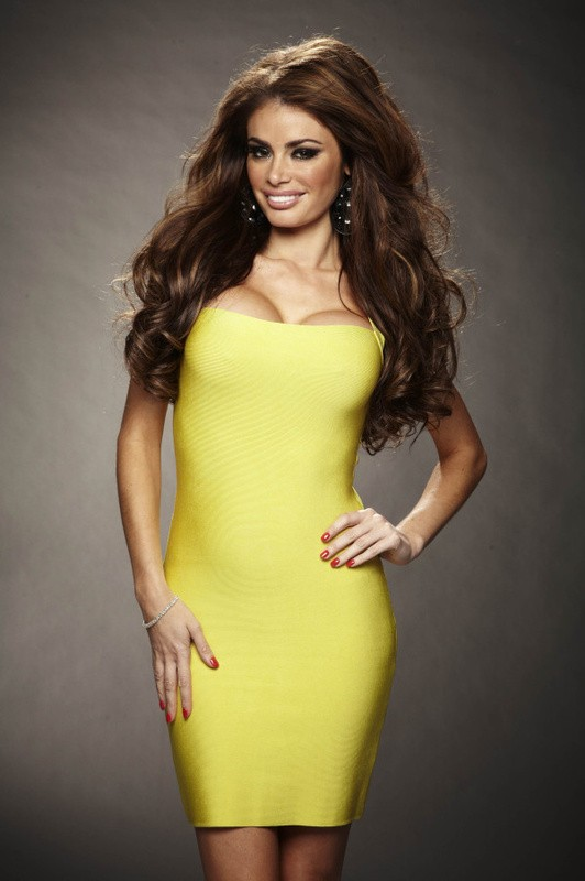 Herve Leger New Fashion Yellow Strapless Bandage Dress