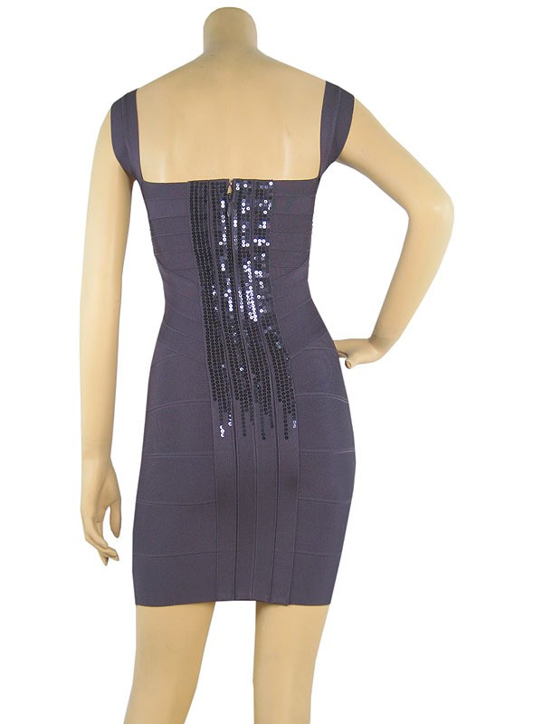 Herve Leger New Style Halter Sequin Bandage Dress