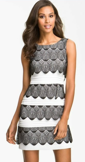 Herve Leger Sleeveless White And Grey Art Jacquard Bandage Dress