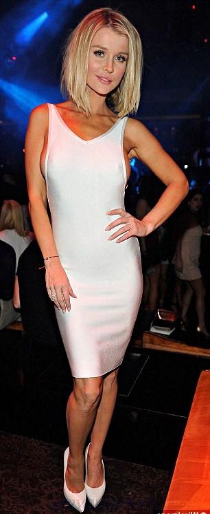 6d892656 Herve Leger White Side Boob Open Back Bandage Dress