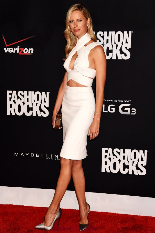 Herve Leger Karolina Kurkova White Halter Cut Out Two Piece Dress