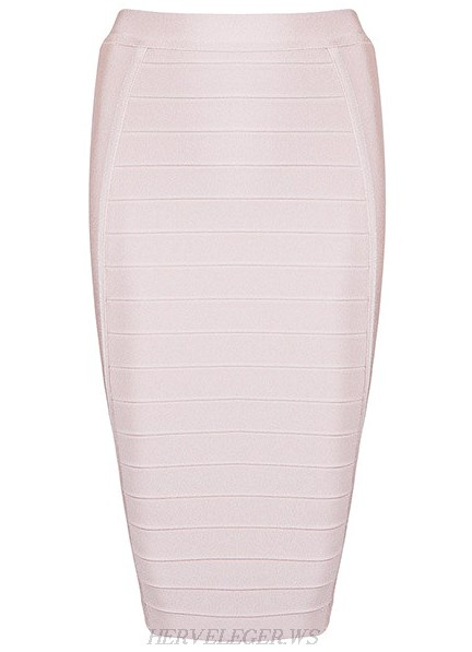 Herve Leger Pink Pencil Skirt