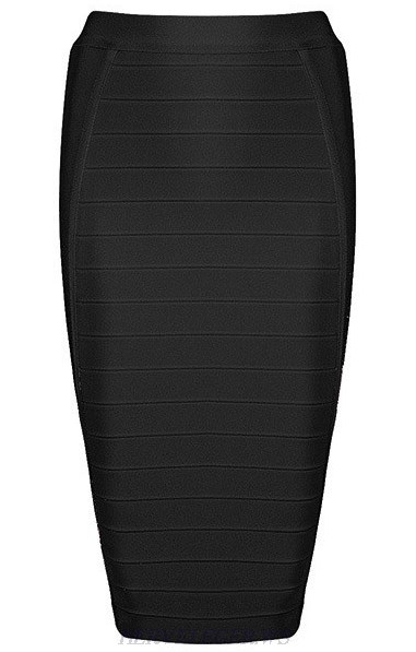 Herve Leger Black Pencil Skirt