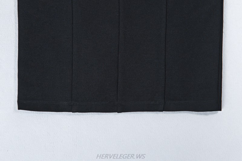 Herve Leger Black Overlay Bardot Dress