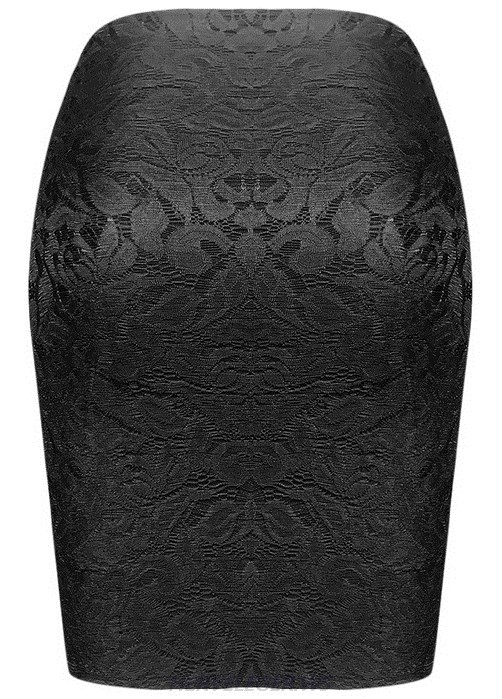 Herve Leger Black Lace Skirt
