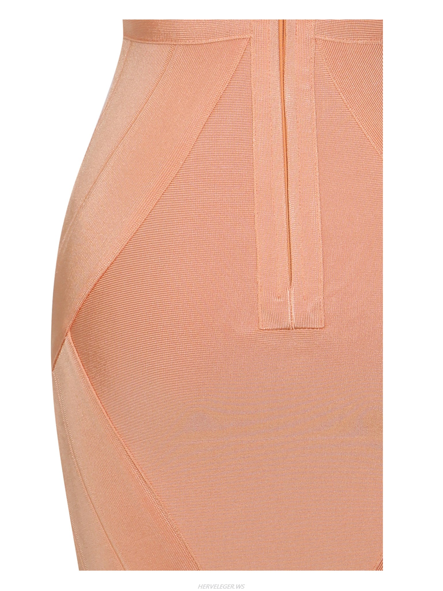 Herve Leger Orange Cleavage Cutout Dress