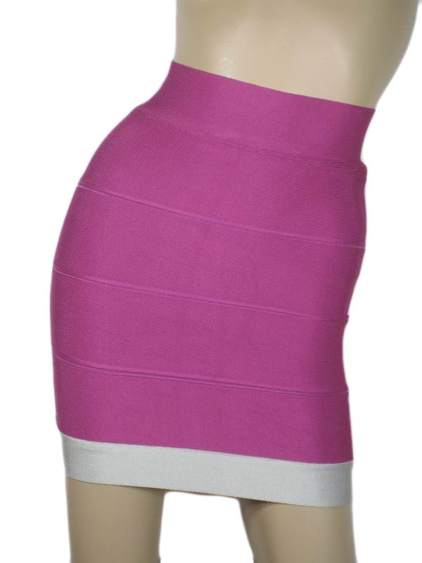 Herve Leger Mini Skirts Purple
