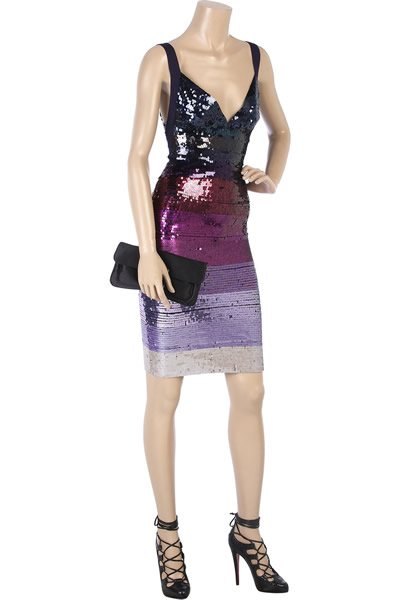 Hervé Léger Sequin bandage dress - Herve Leger Outelt Store
