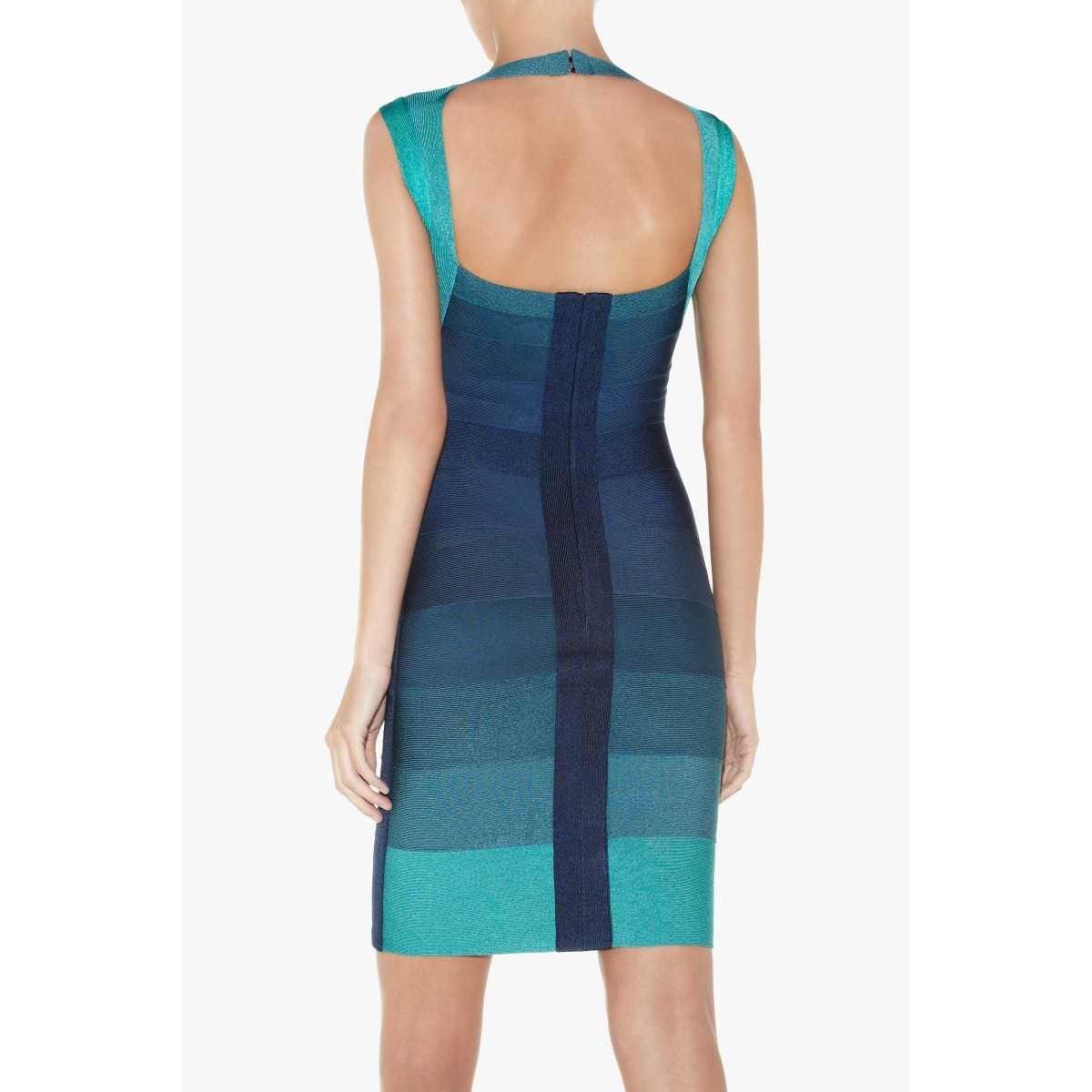 Herve Leger Amee Ombre Bandage Dress