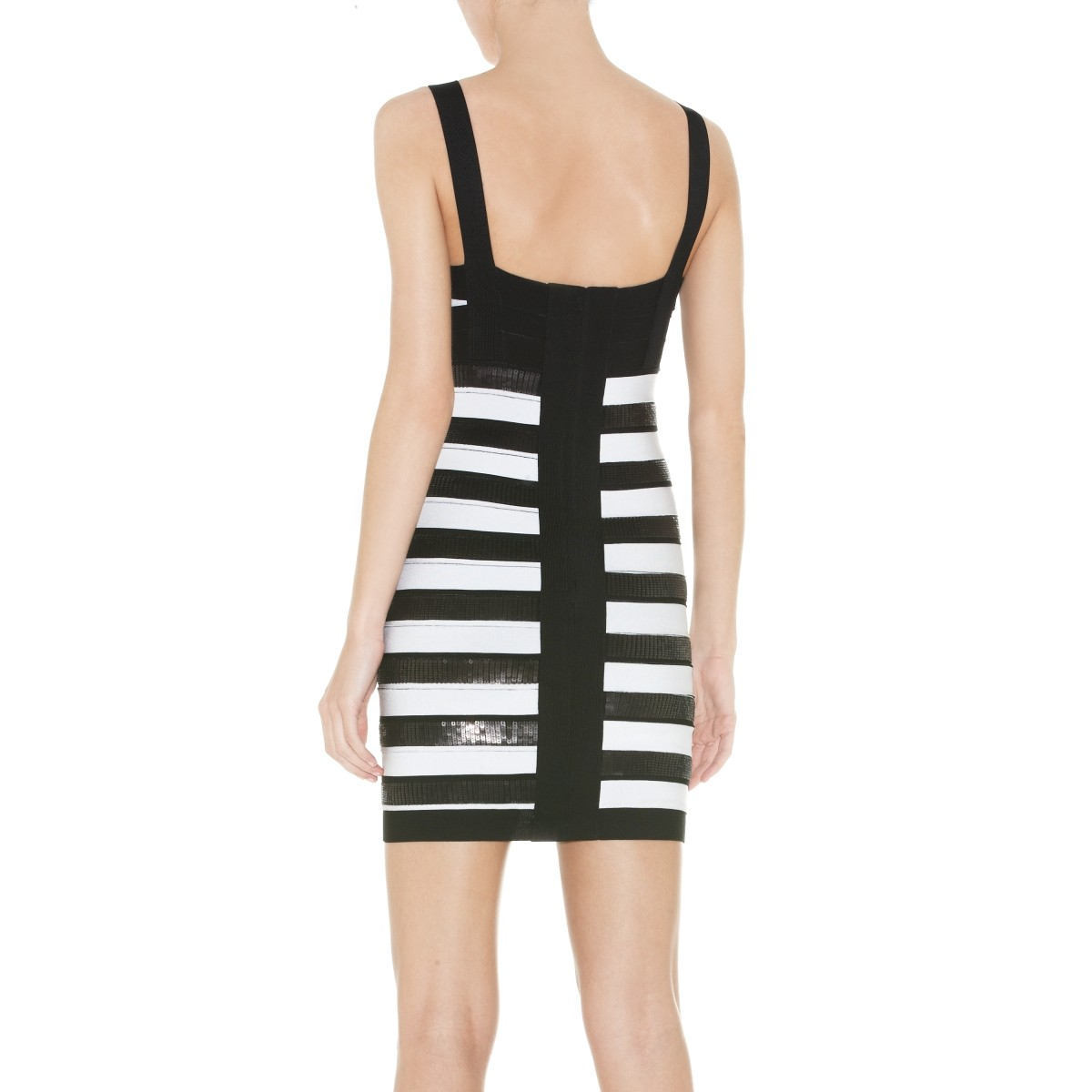 Herve Leger Anika Sequined Jacquard Bandage Dress