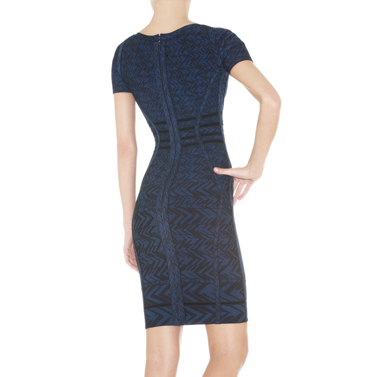 Herve Leger Fia Jacquard Bandage Dress