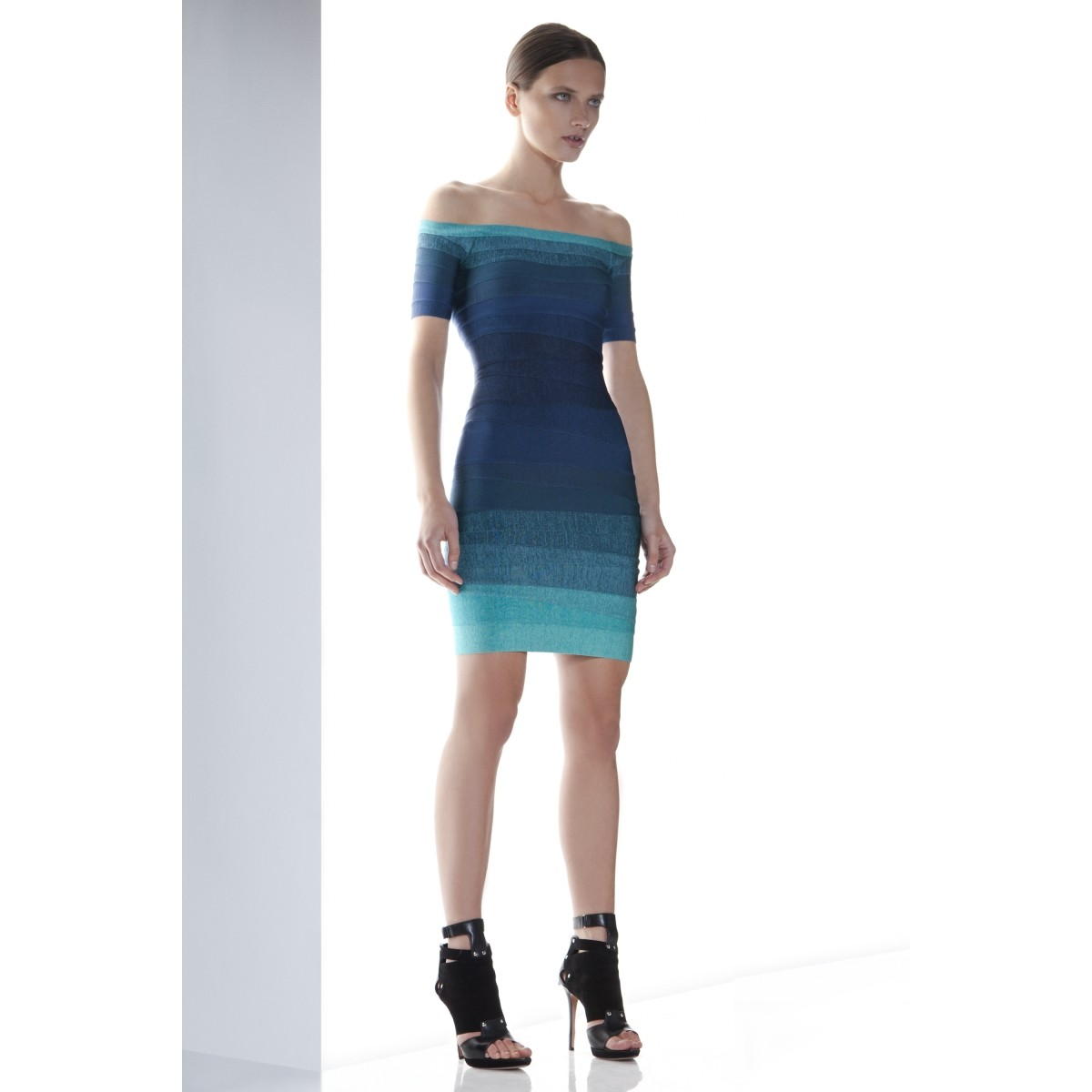 Herve Leger Johanna Ombre Bandage Dress