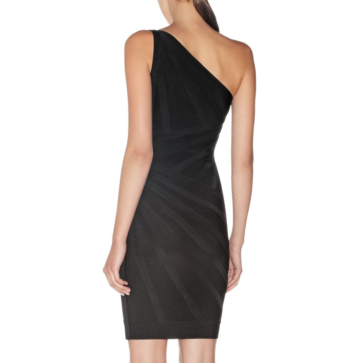 Herve Leger Luz One-Shoulder Bandage Dress