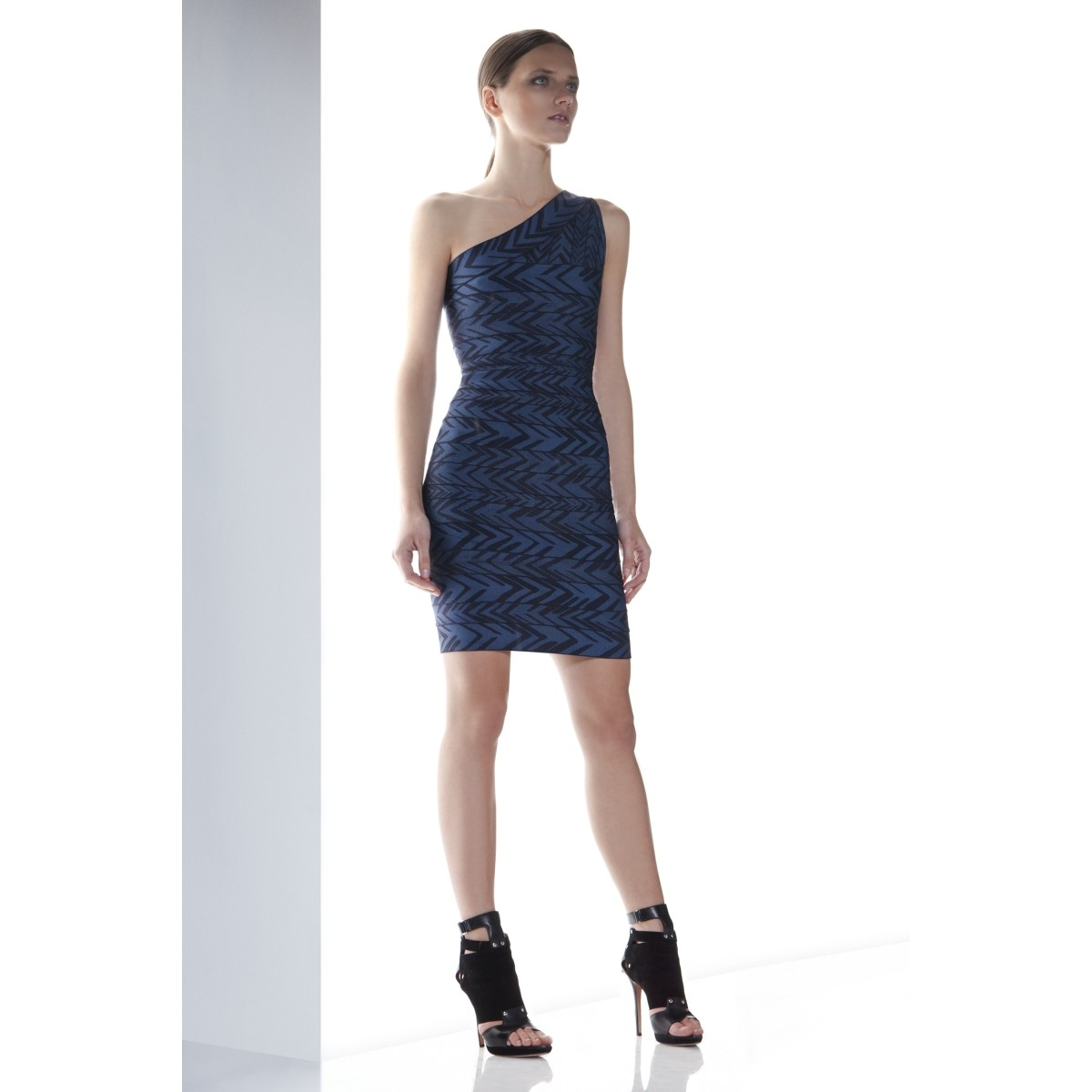 Herve Leger Paloma Jacquard Bandage Dress