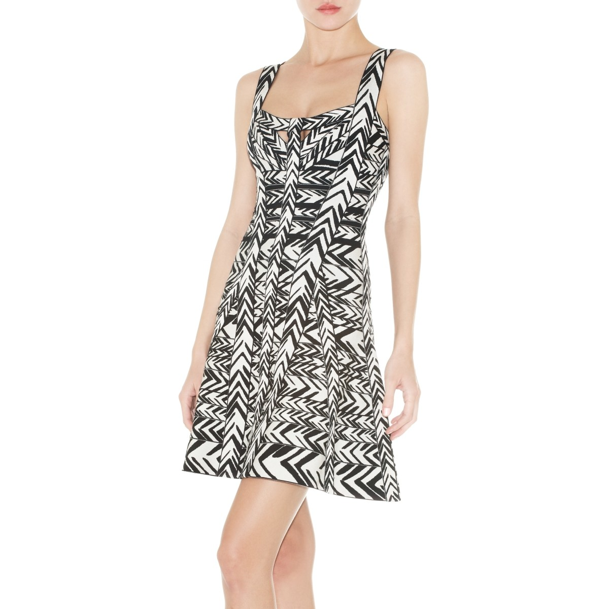 Herve Leger Sanne Jacquard Bandage Dress