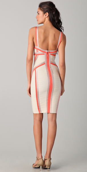 Herve Leger 2012 New Fashion Niyaz Tricolor Bandage Dress