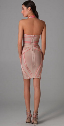 Herve Leger Border Jacquard Dress