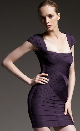 Herve Leger Novelty Bandage Dress
