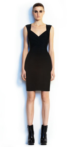Herve Leger Novelty Essential Bandage Dress Black