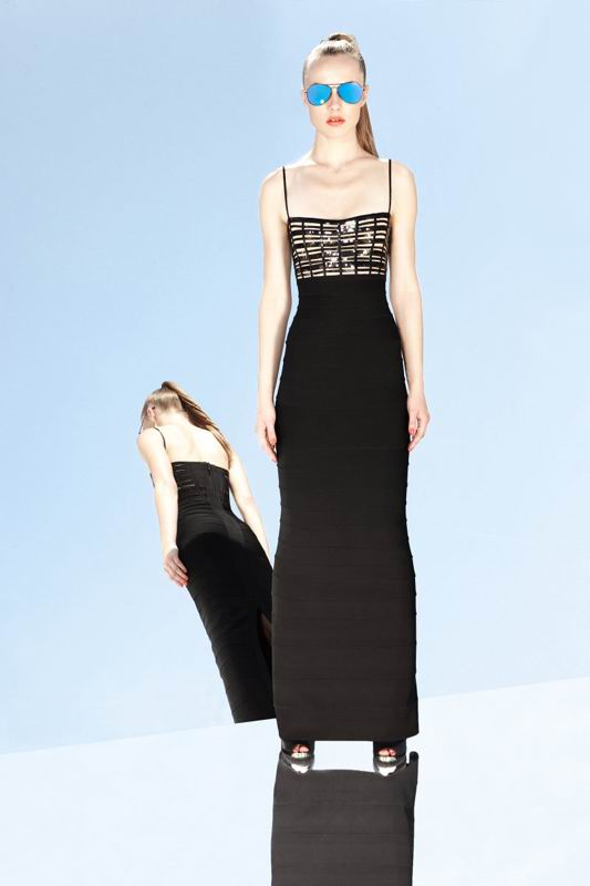 Herve Leger 2014 Classically Black Gown