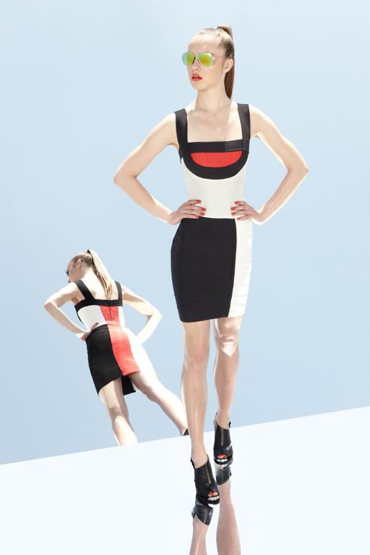 Herve Leger 2014 Classically Colorblock Dress
