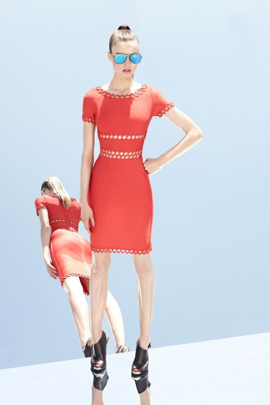 Herve Leger 2014 Resort Inspired Red Dresses