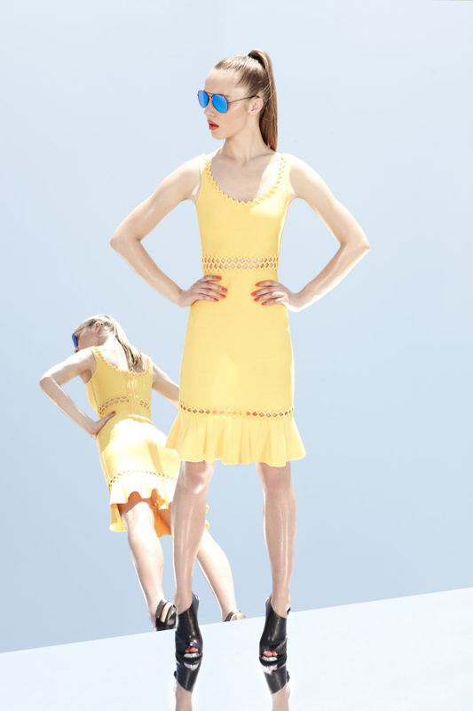 Herve Leger 2014 Resort Inspired Yellow Dresses