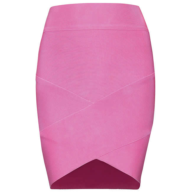 Herve Leger 2015 Cut Out Multi Color Bandage Skirt