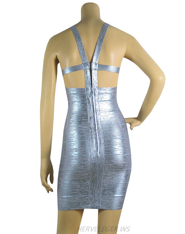 Herve Leger Latest Fashion Multicolor Backless Bandage Dress