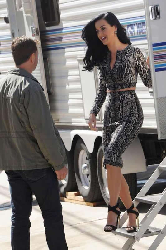 Katy Perry Dress Herve Leger Grey Two Piece Jacquard Bandage Dress
