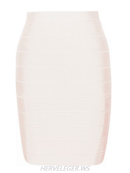 Herve Leger Nude Pencil Cut Bandage Skirt