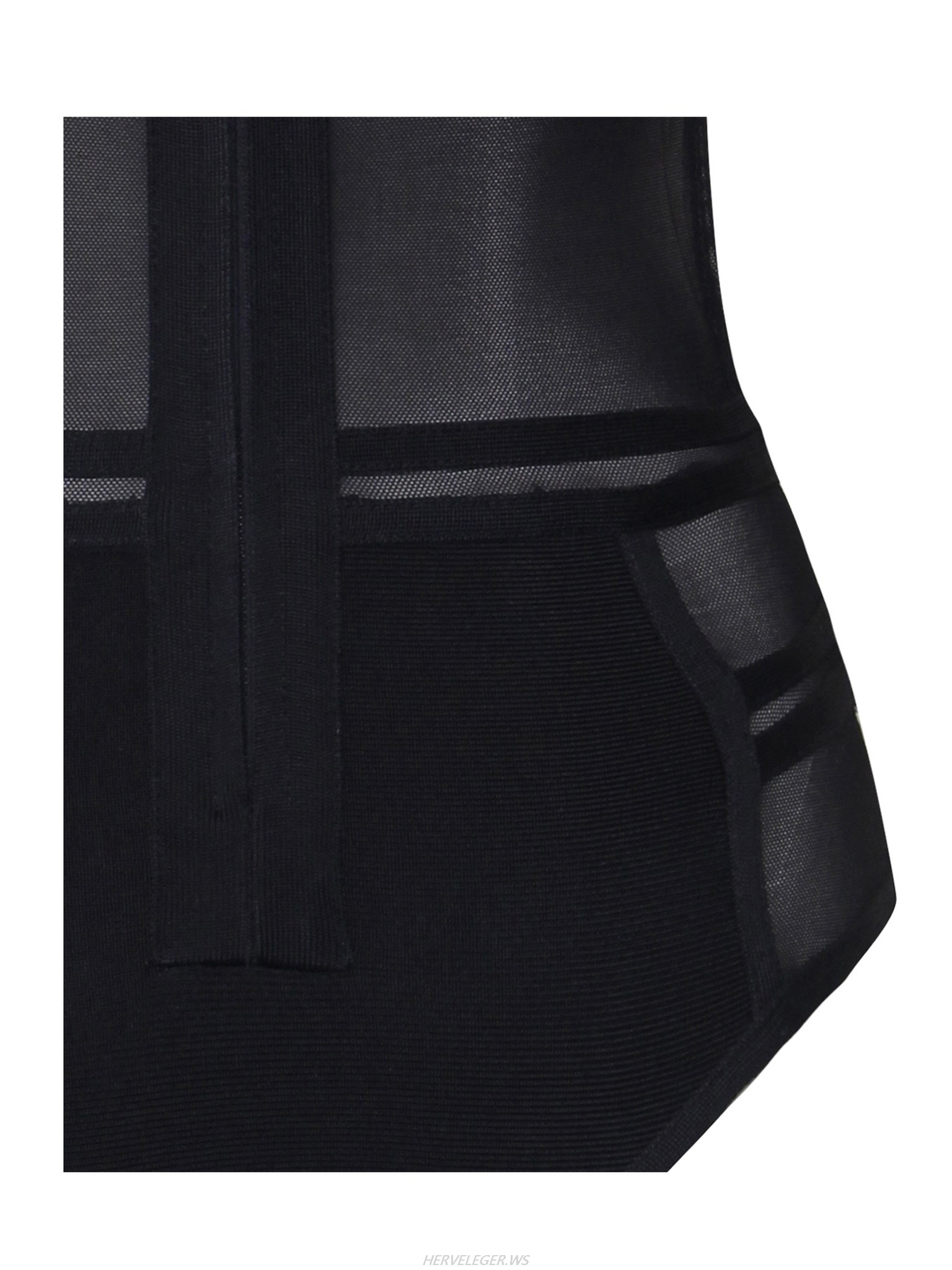 Herve Leger Korbin Sheer Cutout Detail Bodysuit