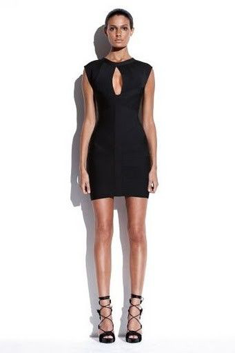 Black Herve Leger Bandage Dress
