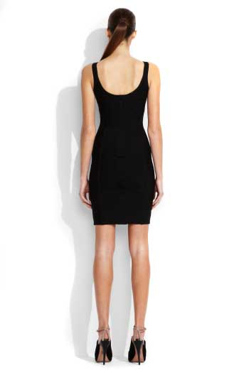 Herve Leger Black Strapless Dress