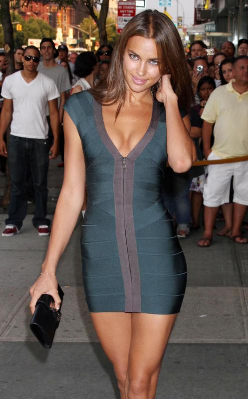 Herve Leger Irina Shayk Bandage Dress