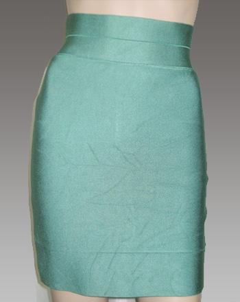 Herve Leger Mini Skirt Dark Green
