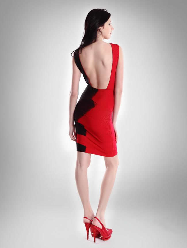 Herve Leger Holiday Dress Red
