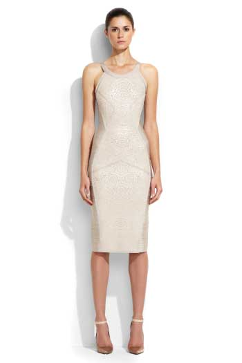 White Herve Leger Bandage Dress