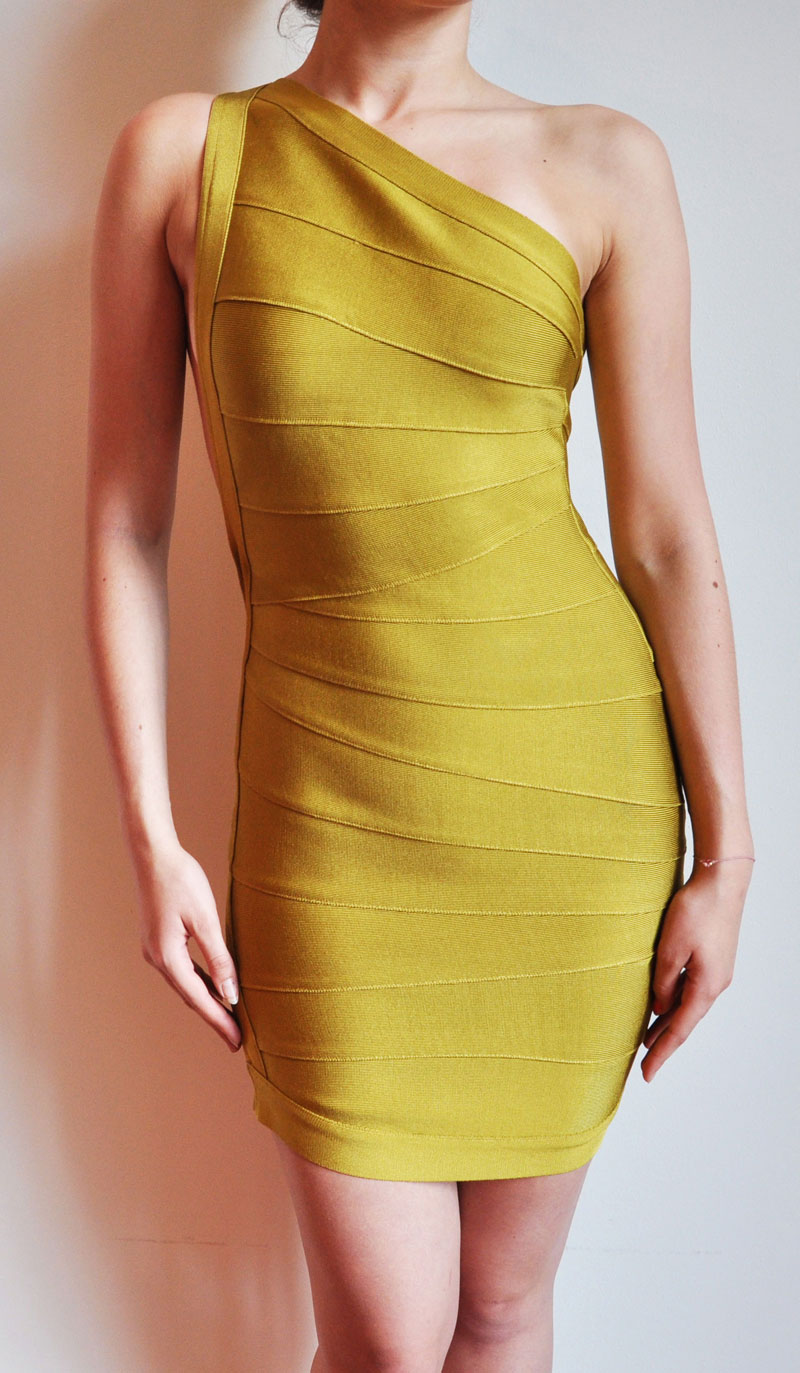 Kim Kardashian Yellow Dress