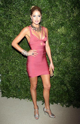 Herve Leger Pink Doutzen Kroes Dress