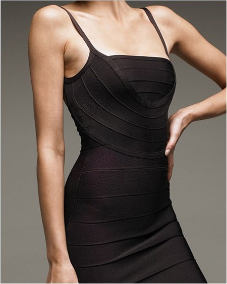 Discount Herve Leger Black Bandage Dress