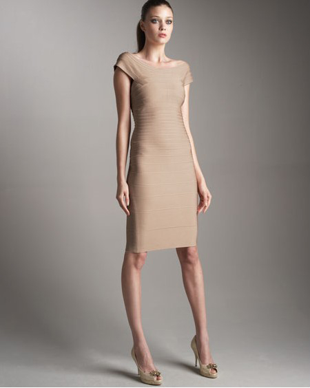 Discount Herve Leger Dress Brown