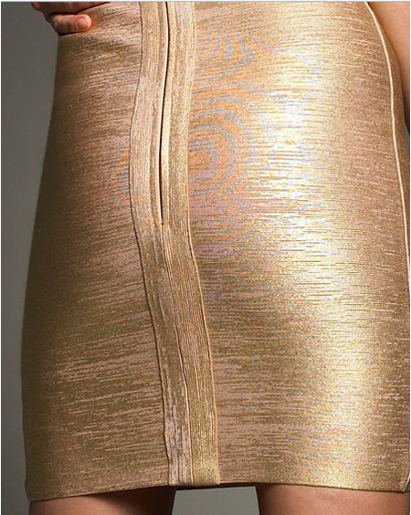 Discount Herve Leger Gold Dress