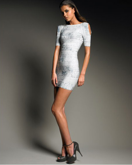 Herve Leger Bandage Backless Dress