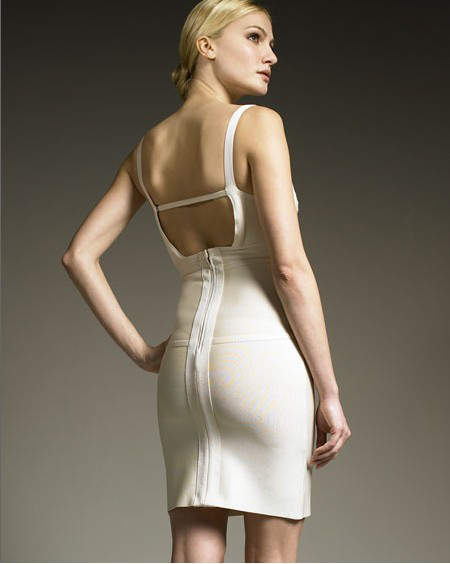 Herve Leger Bandage Dress White Herve Leger Bandage Dress