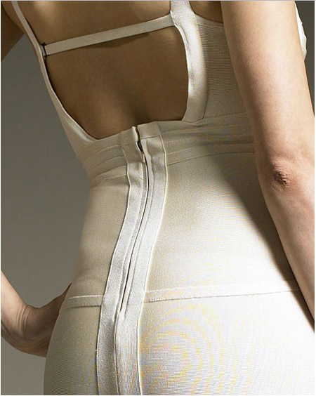 Herve Leger Bandage Dress White