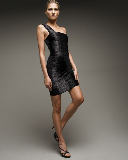 Herve Leger Beaded Dress Black